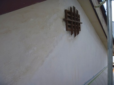 川越市 軒天・鏡板補修