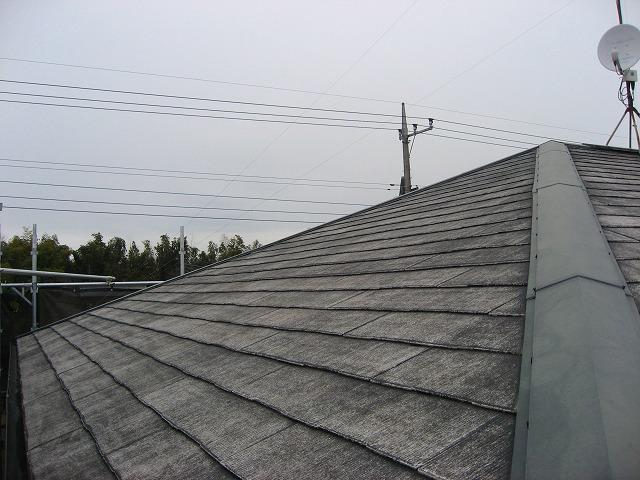塗装前の屋根は防水機能が無くなった状態