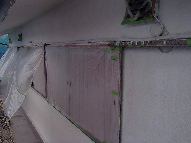 戸袋部分の塗装前の状態