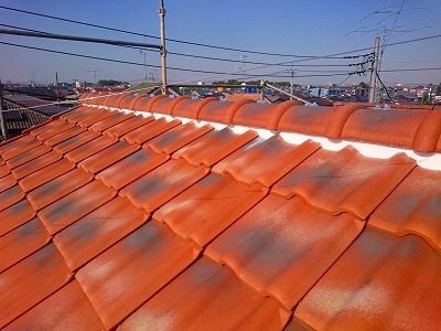 蓮田市 屋根漆喰の補修後