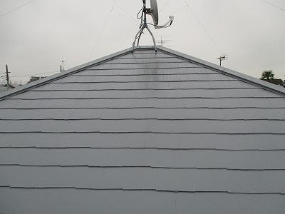 さいたま市西区 屋根塗装 シャネツロック グレー