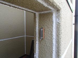 外壁目地のシーリング打ち直し後の様子