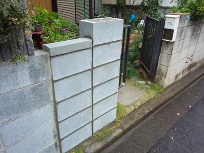 さいたま市でブロック塀補修後