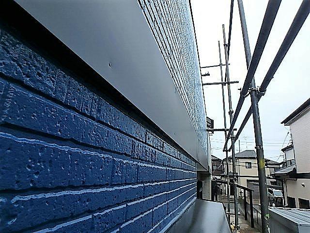 埼玉県上尾市 家塗装 帯板