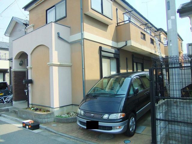 外壁塗装前 一軒家 状態 さいたま市
