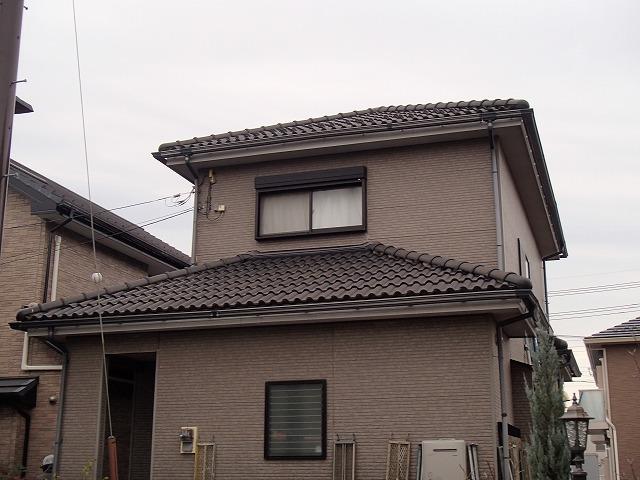 塗装前の一軒家