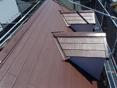 屋根中塗り 上塗り 埼玉 塗装