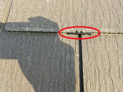 屋根-タスペーサー挿入