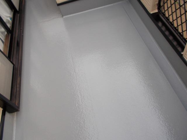 ベランダ床面塗装後