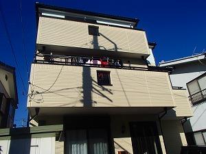 施工後の一軒家の塗り替えた状態です