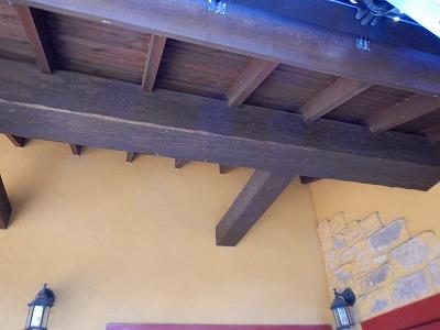 木製の軒天 補修 点検