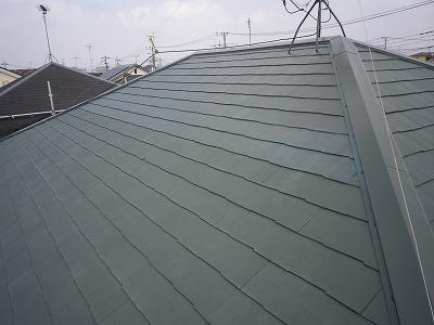 さいたま市岩槻区 屋根塗装後 超手汚染リファイン5000IR