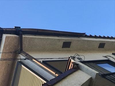 埼玉県越谷市の軒天部分