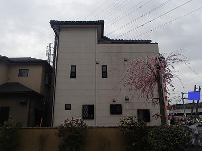 一軒家の塗装施工事例ビフォア