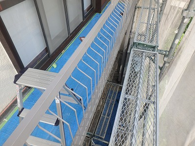 さいたま市桜区 ベランダ 鉄部塗装