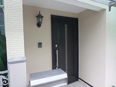玄関周りの塗装