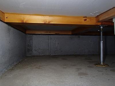 防蟻施工を行った基礎部