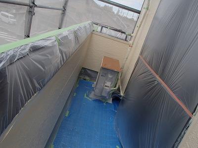 越谷市 ベランダ 外壁塗装