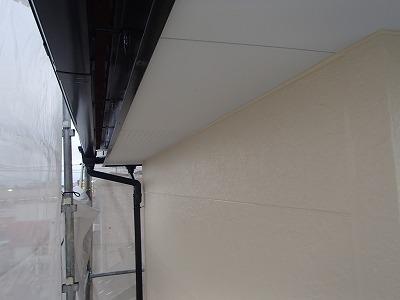 軒天部分塗装