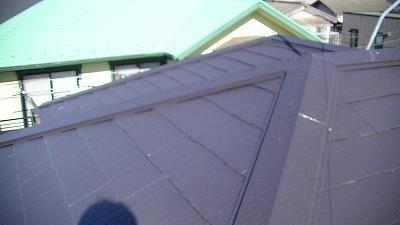 川越市 屋根塗装 キャビアブラウン