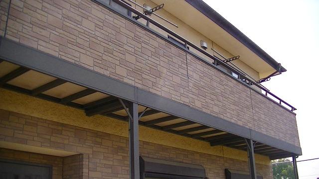 取替えを行うベランダ部分の外壁サイディング