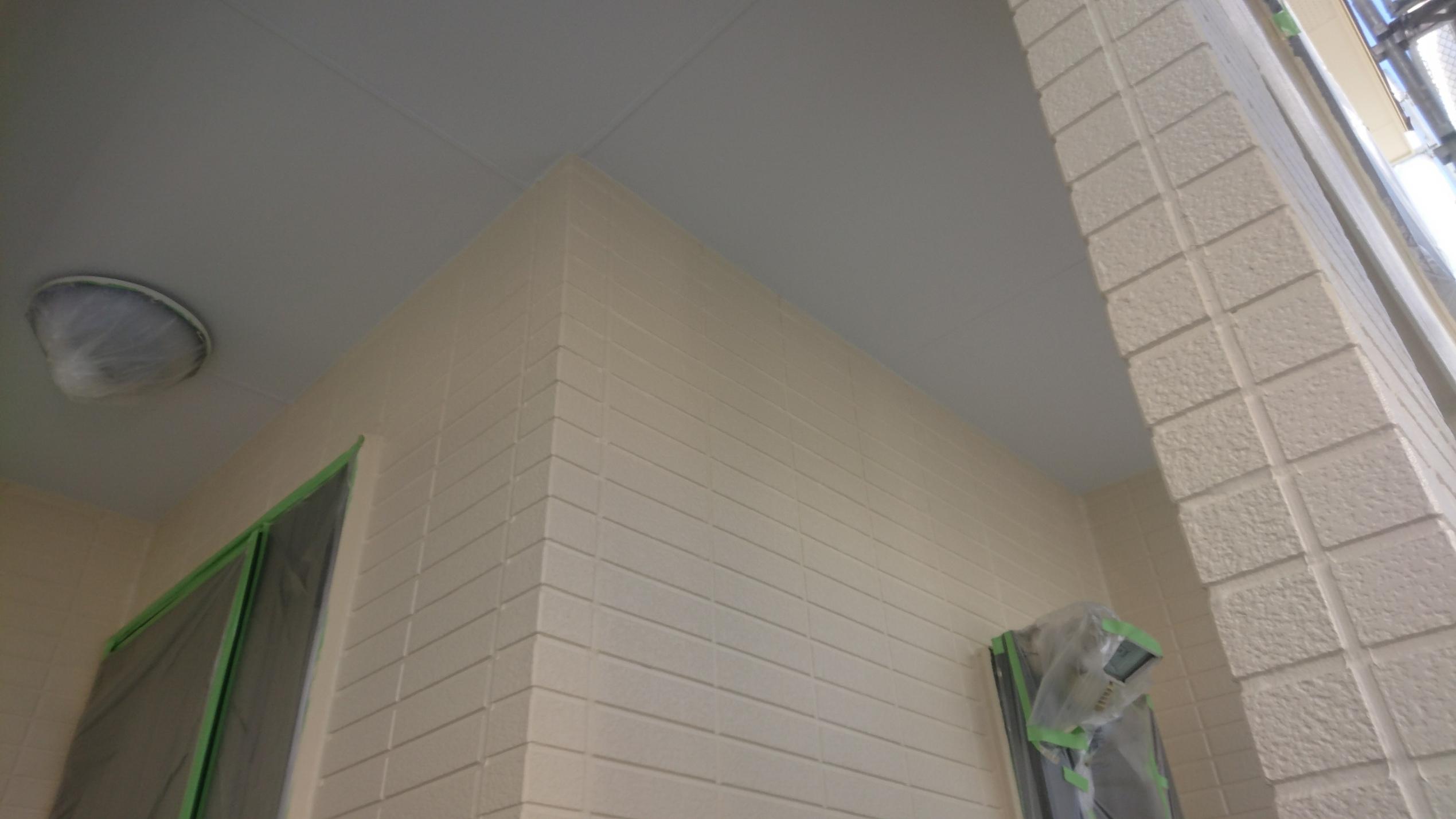 見沼区 外壁塗装上塗り