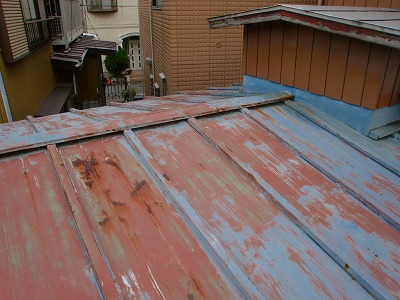 さいたま市北区 トタン屋根塗装