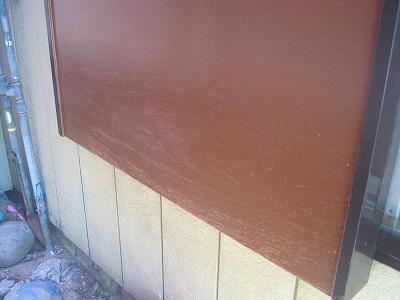 川越市 軒天・鏡板補修 雨戸塗装後