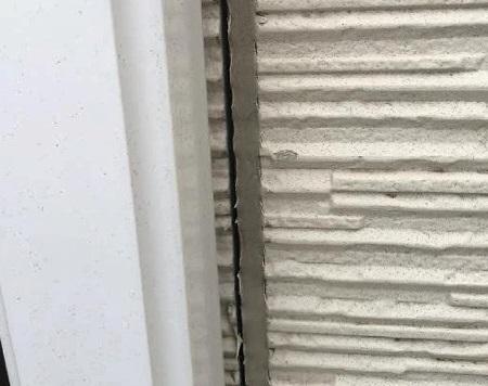川口市 外壁 シーリングの剥離